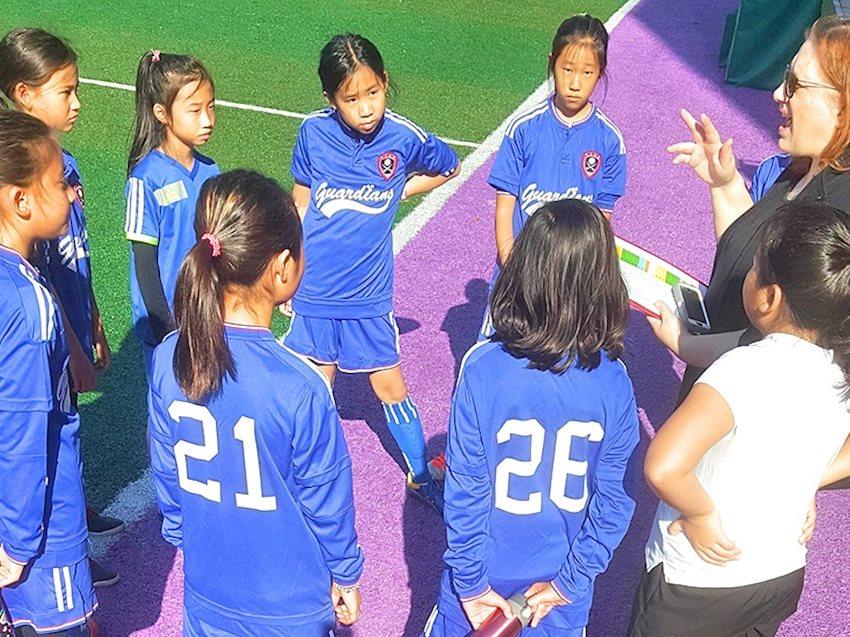 4th & 5th Grade Girls' Soccer Huddle