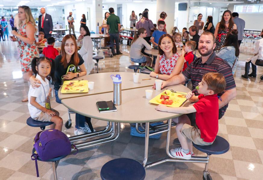 Families attending the Boohoo breakfast