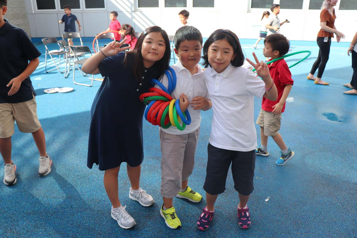 Students played outside games and strengthened new friendships.
