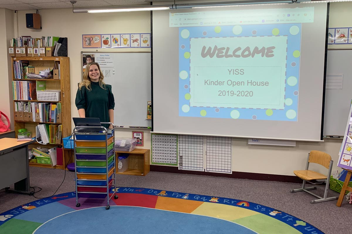 Teachers were ready and welcoming for the parents that visited them.