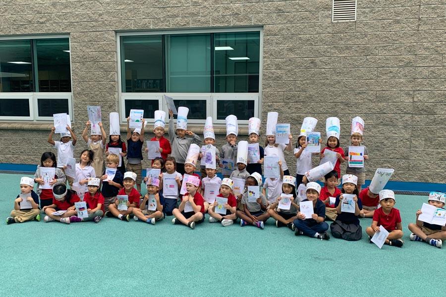 Our ES Kindergarten Writers.