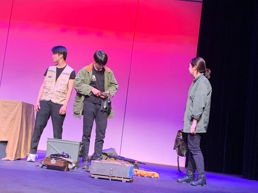 Drama club members performed.